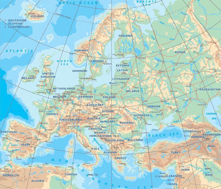 physical map of europe Physical map of Europe These obvious shallows are