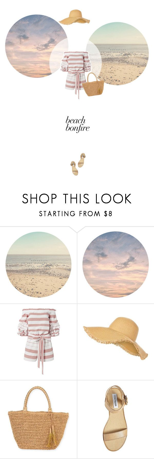 // 1305. Summer Nights: Beach Bonfire. by lilymcenvy on Polyvore featuring Steve Madden, Sun N' Sand, New Look and beachbonfire