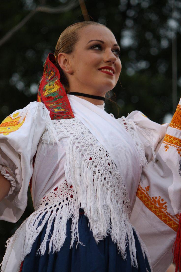 Cool way to wear a scarf. Detva, Podpoľanie region, Central Slovakia
