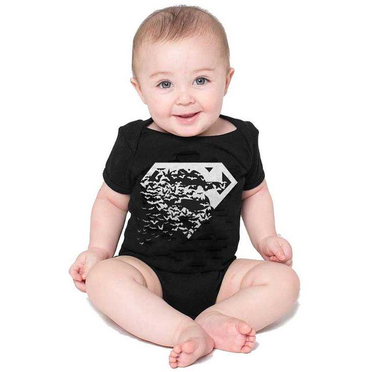 Superman vs. Batman Logos Infant Onsie