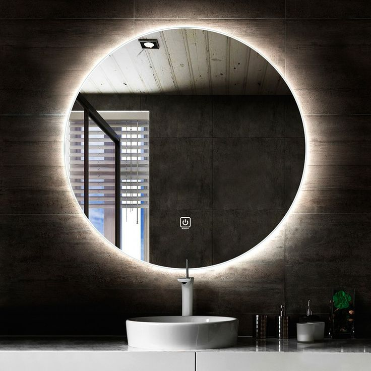 Saniclear Circle Ronde Spiegel Met Led Verlichting 100cm Incl