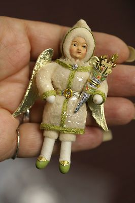 Antique German Spun Cotton Angel Christmas Ornament | eBay