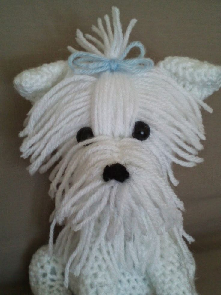 Maltese Dog Knitting Pattern : 17 Best images about Crochet on Pinterest Doily rug, Crochet coat and Croch...
