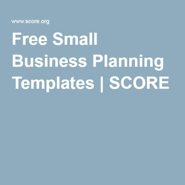 Free small business planning templates score for Score org business plan template