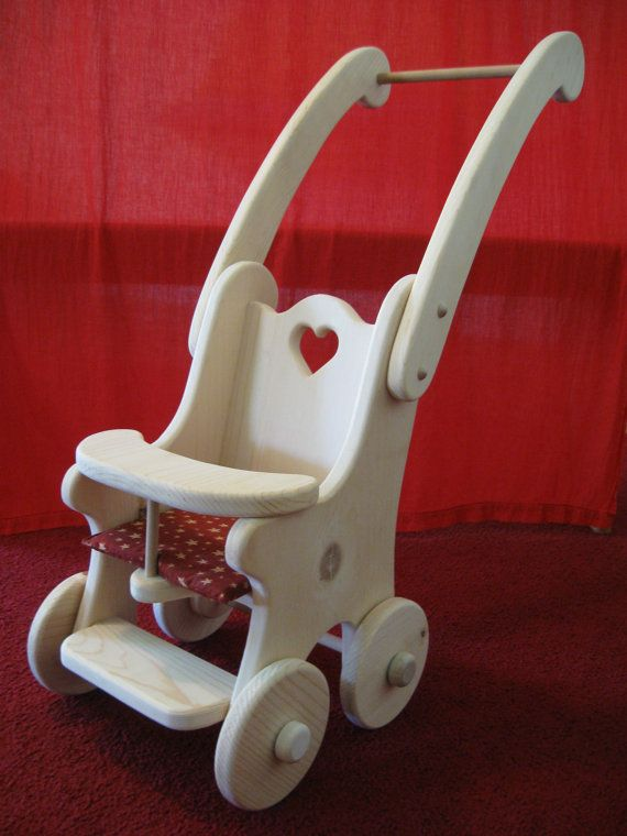 Cashie's Dolly Stroller/Buggy - Waldorf - wooden dolly buggy/stroller. on Etsy, $65.00