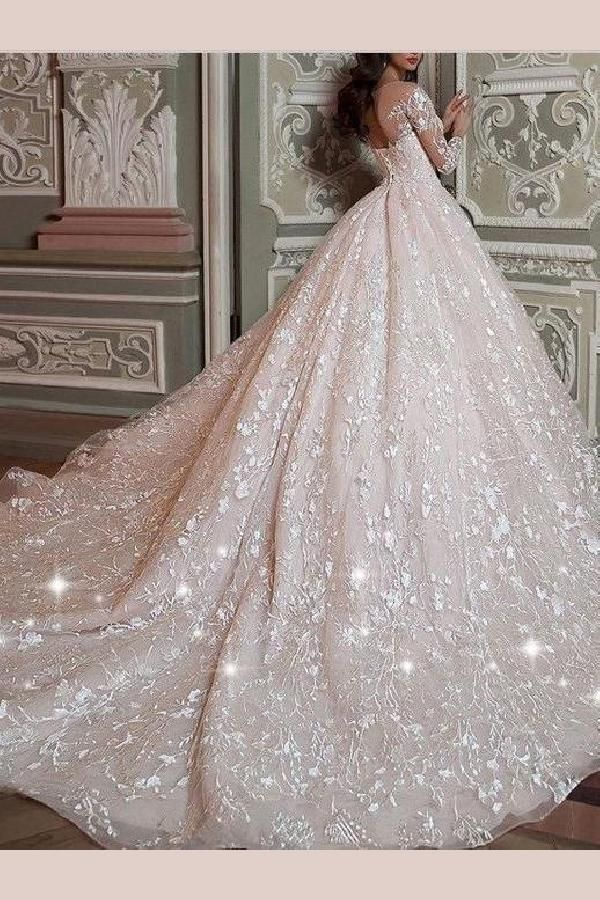 Outstanding Wedding Dress Lace, Long Sleeves Wedding Dress, Vintage Wedding Dress