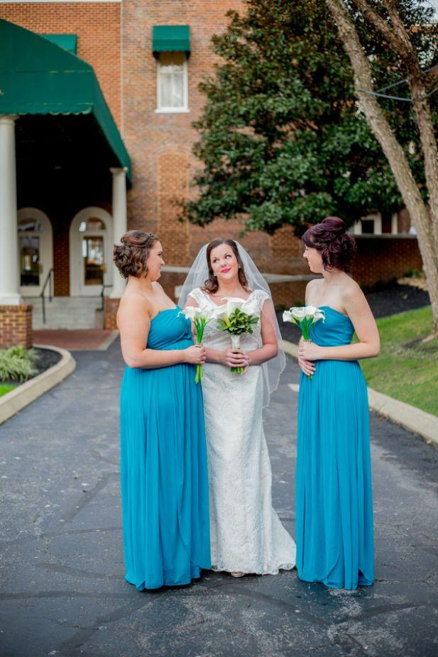 Blue bridesmaid dresses (Katrina Serene Photography)