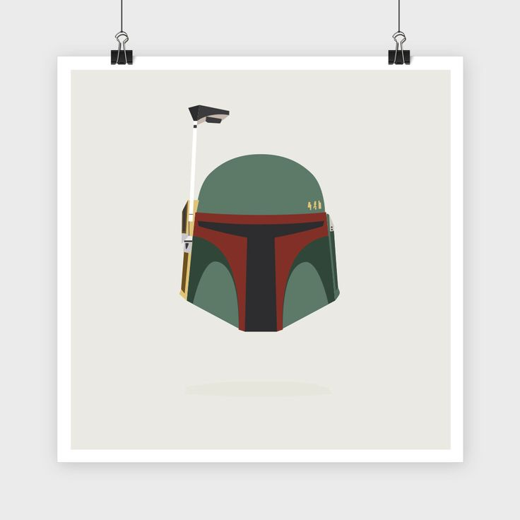 Boba Fett Helmet, Vector Star Wars Illustration by ...