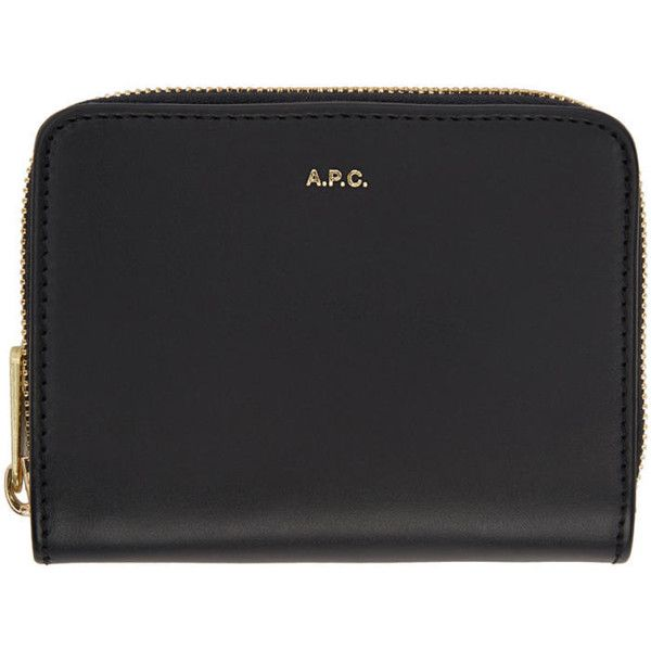 A.P.C. Navy Compact Zipped Wallet (10,250 PHP) ❤ liked on Polyvore featuring bags, wallets, navy, navy wallet, leather zipper wallet, navy blue wallet, bifold zipper wallet and zip wallet