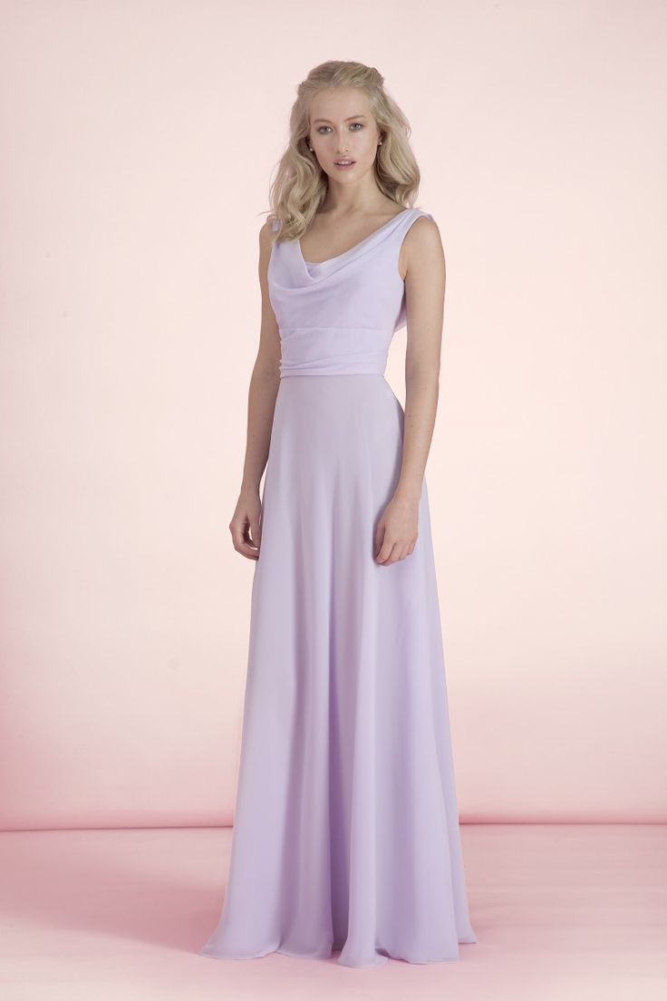 Kelsey Rose 50105 Soft Double Chiffon Is Delicately Given To A Sweeping Cowl Neck Bridesmaid DressesWedding