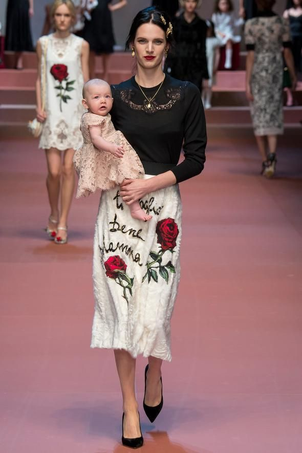 Dolce & Gabbana's Runway Bambinos Aren't the Only Top Models Under Age 2. Babies on Runways, our new favorite thing! #fashion #mfw #DG #style