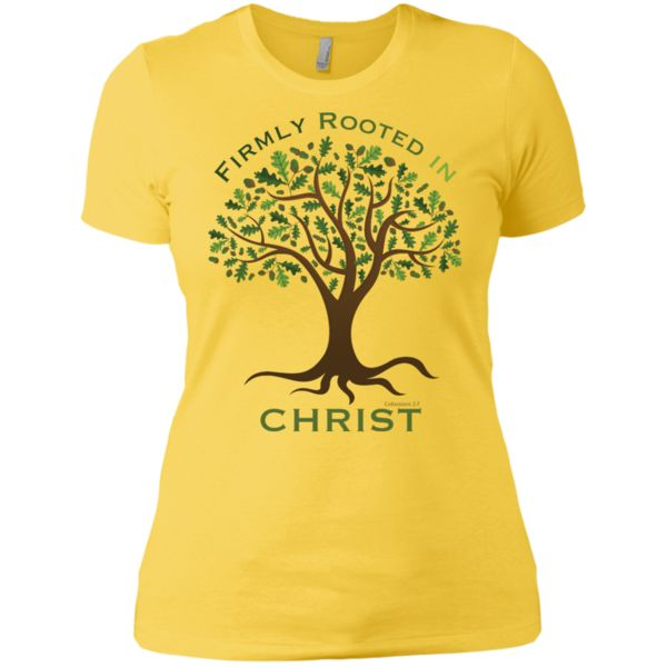 Firmly Rooted (Colossians 2:7) Ladies' Boyfriend T-Shirt ...