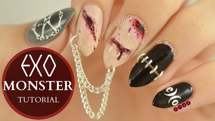 #EXO #Monster Inspired Nail Art Tutorial