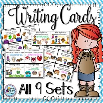 Writing Prompts Task Cards for the Year
