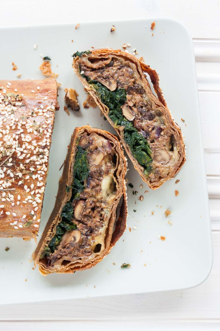 This mushroom Wellington with spinach recipe (suitable for vegetarians & vegans) makes a fabulously elegant main course/entree - great for roasts.