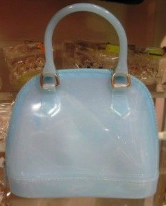 Girls Light Blue Jelly Handbag