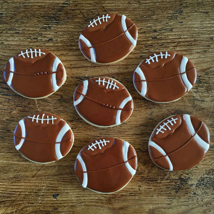 Football Sugar Cookies these are simple to make and so cute!