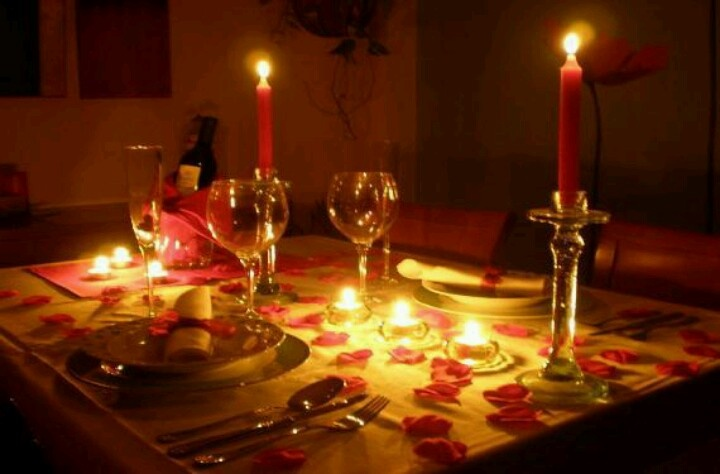 Candlelight dinner for two<3