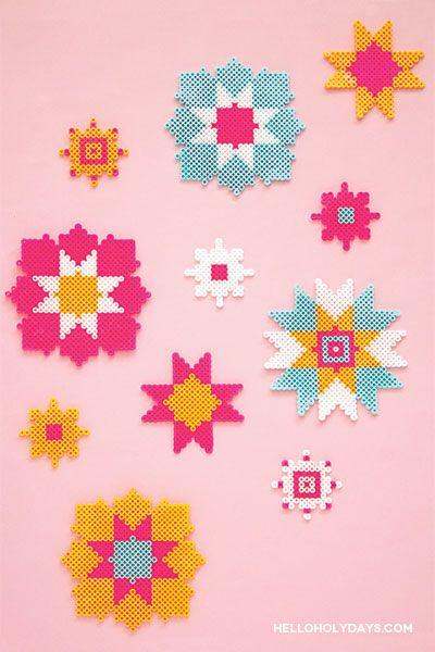 Perler bead craft for Ramadan/ Eid. Free downloadable template on our website - Hello Holy Days. #ramadan #eid