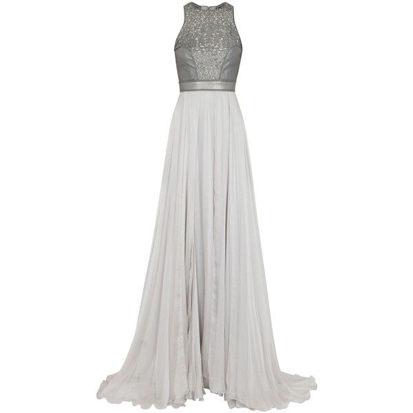 Catherine Deane Selest Laser-Cut Leather And Silk Gown found on Polyvore
