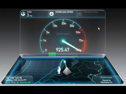 1 Gbps Internet Connection Speed Test