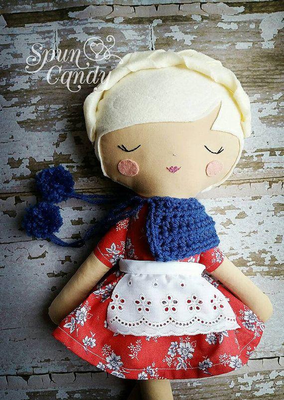 Vintage Inspired Rag Dolls by SpunCandy https://www.etsy.com/listing/238321266/bespoke-doll-heirloom-quality-doll