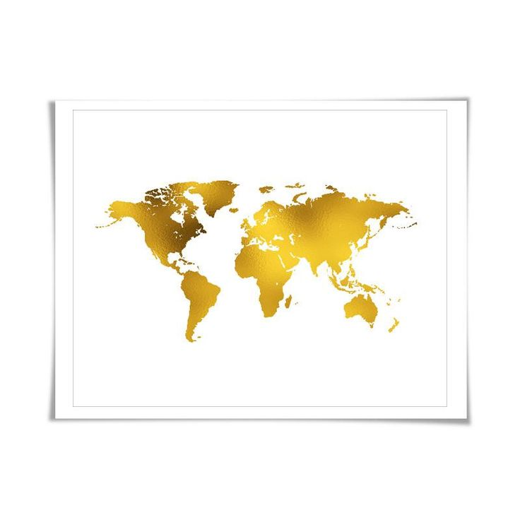 1771 best gold foil giclee art prints images on pinterest double hemisphere map see more world map gold foil art print 7 foil colours3 sizes world map gumiabroncs Images