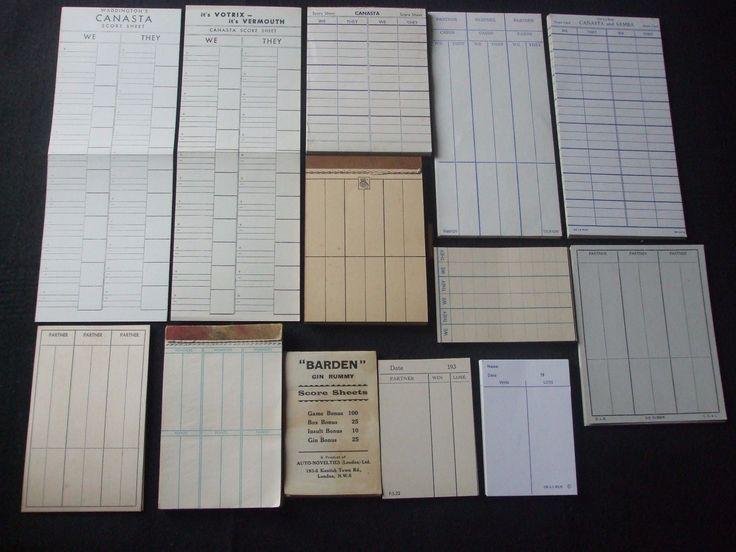17 parasta ideaa Canasta Card Game Pinterestissä - canasta score sheet template