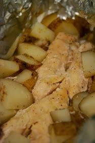 Hobo Meal: Lemon Pepper Chicken with Garlic Potatoes