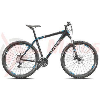 "Bicicleta Cross Grx 8M 27.5"" negru/gri/albastru 2015"