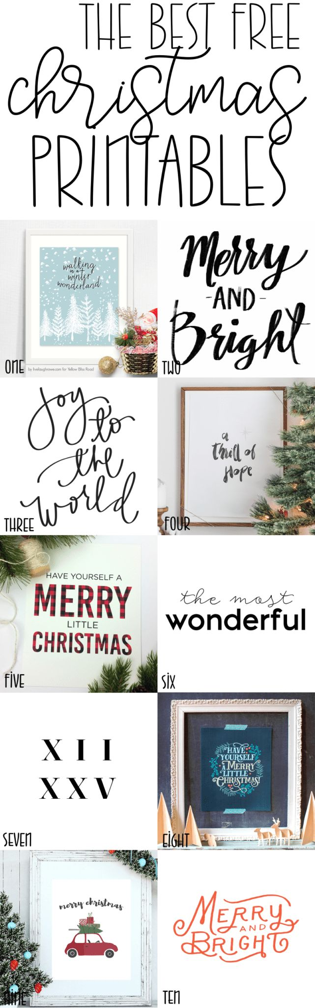 Best Free Christmas Prints Holiday Decor