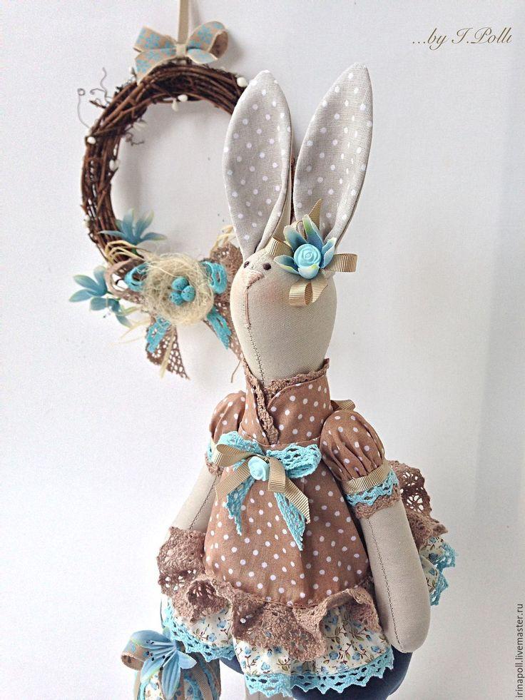 Купить Кроля Эсти с пасхальным яйцом - бежевый, кролик, зайка, зайка девочка, зайка пасхальная