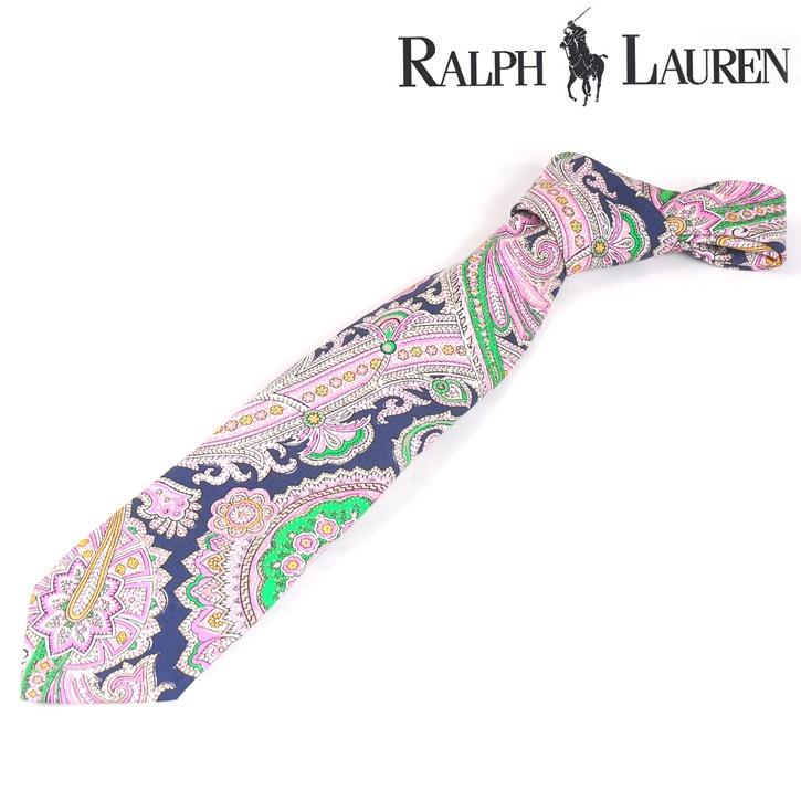 Polo Ralph Lauren(ポロラルフローレン) ネクタイ ピンク シルク ハンドメイド og-rl-072