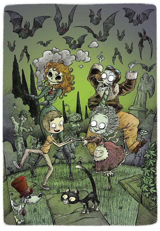 Escarlatina, a coniñeira defunta Ilustraciones de Victor Rivas
