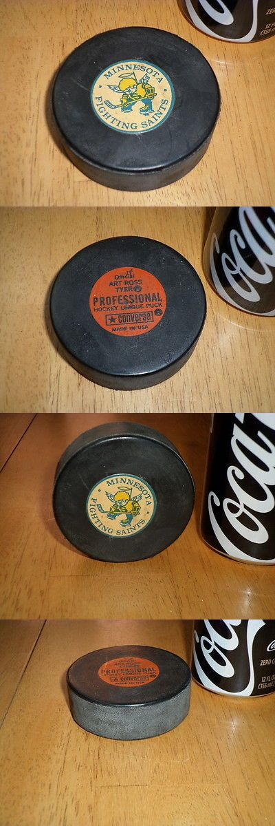 Pucks 108178: Minnesota Fighting Saints - Official Hockey League Puck,Converse And Art Ross Tyer BUY IT NOW ONLY: $70.0