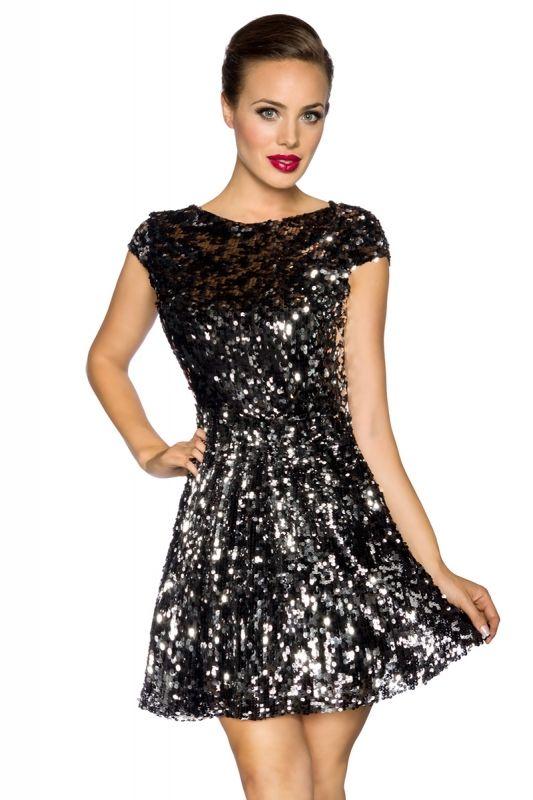Edle #Paillettenkleid schwarz von Kleidung Onlineshop