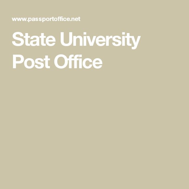 State University Post Office
