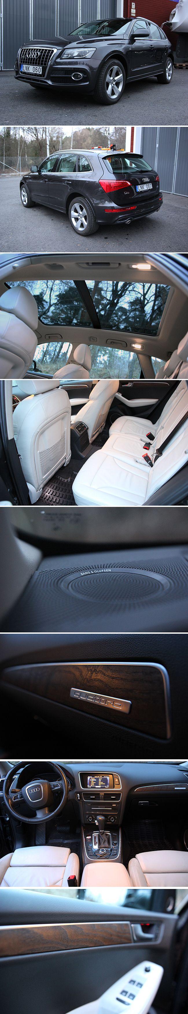 Audi Q5 3.0 TDI q (240hk), 2010, 13400 mil, Lava grå Metallic, Designpaket sport läder+ finnappa, sportstolar, Nav, S-line extriörpaket, Alu fälgar 8 j x 19 i 5-ekerdesign, Framsäten med el inställning ink el svankstöd, Förvaringspaket proline, Teknikpaket, Sportpaket, Läderklädd multifunktionssportratt i 3-ekersdesign, Panoramasoltak, Baklucka som öppnas & stängs elektrisk, Läderpaket, Dekorinlägg, Pdc fram & bak, Ljus & regnsensor & heljusassistans, Farthållare, B&O sound system. Pris 238…