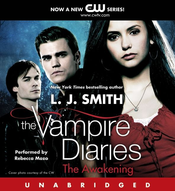 The Vampire Diaries Audiobook Review Book 1: The Awakening,UNABRIDGED Written by L. J. Smith, narrated By Rebecca Mozo, series: Vampire Diaries, Book 1