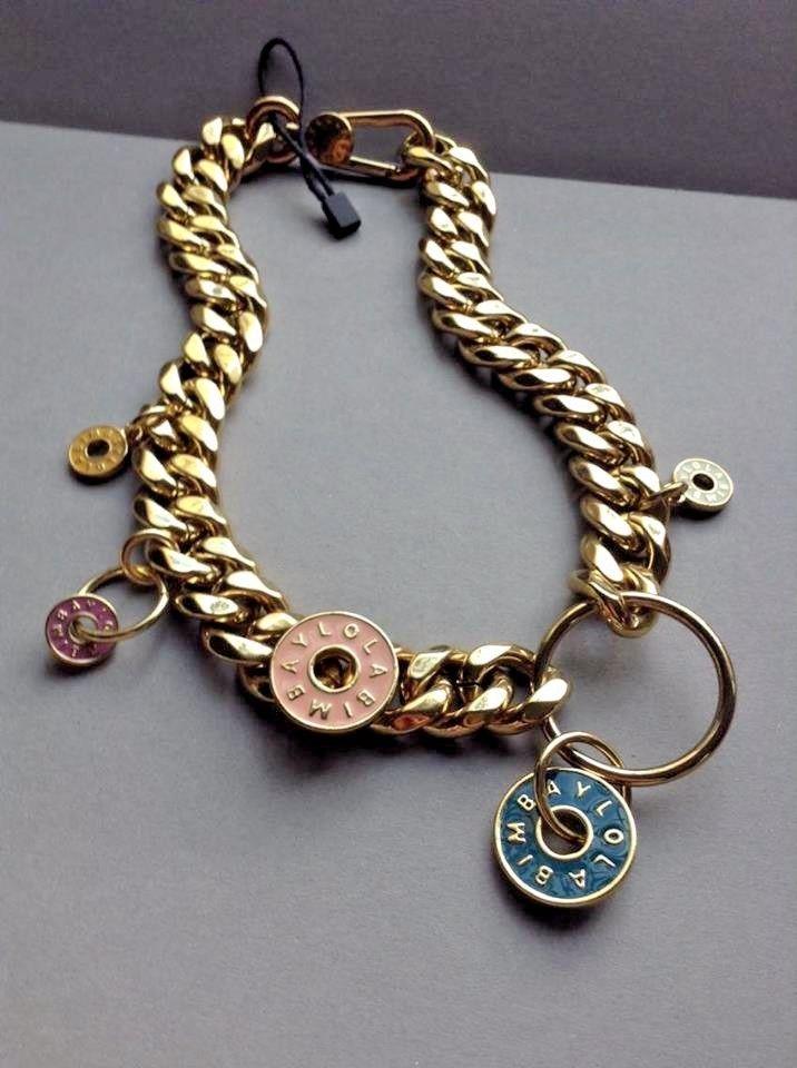 Bimba and Lola Chunky Gold Tone Necklace with Charms NWT Greece #BimbaYLola #Choker