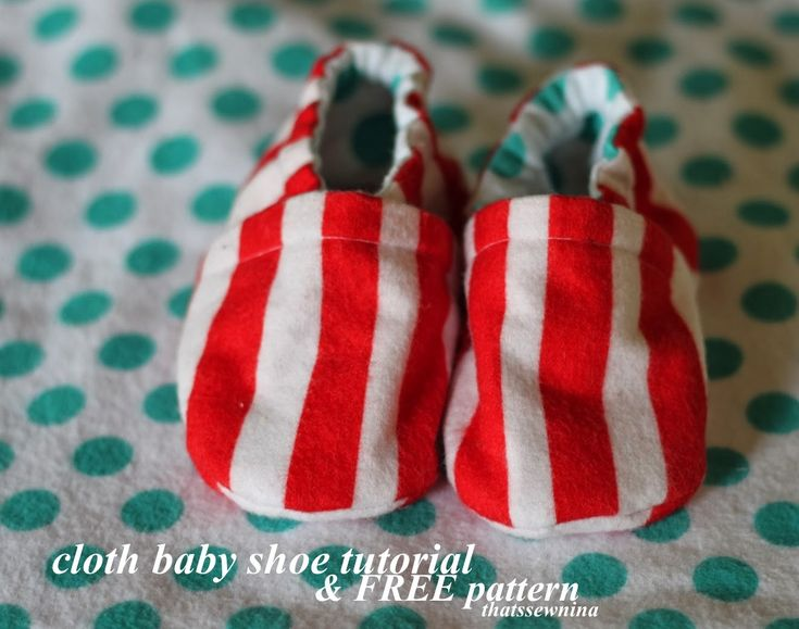 "Cloth Baby Shoe Tutorial when making the size larger than template, lengthen the sole and leave other components the same size 0-3 months = 3.5"" sole 3-6 months = 4"" sole 6-9 months = 4.5"" sole 9-12 months =5"" sole 12-18 months = 5.5"" sole"