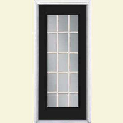 Visit The Home Depot To Buy Masonite 32 In. Jet Black Prehung Right Hand  Inswing Steel Entry Door Brickmold Vinyl Frame 20903