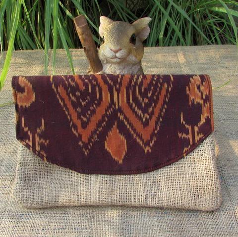 Environment Friendly Clutch bag - Handmade clutch bag by DeNesia