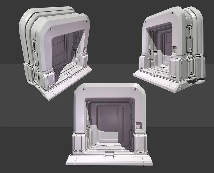 Quake 4 Inspired Door Highpoly by ~beere on deviantART