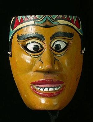 javanese dance mask  java, indonesia
