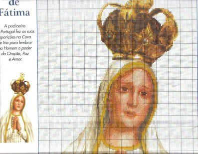 Solo Patrones Punto Cruz 2/3 Nossa Senhora de Fatima