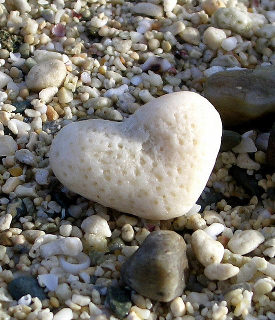 natural heart shaped rock!