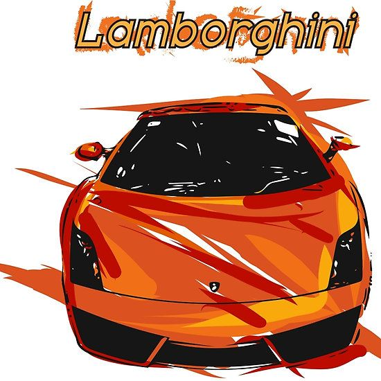 Lamborghini car abstract