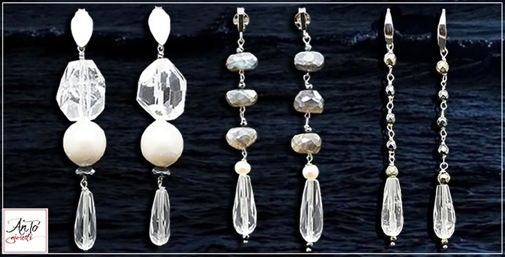 Beautiful pearls and crystal earrings, handmade in Italy, by us! Follow on our website: www.antogioielli.it