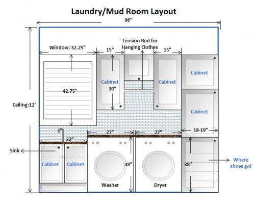 Best 25 laundry room layouts ideas on pinterest laundry room design laundry room with sink - Laundry room designs small spaces set ...